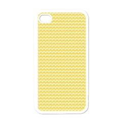 Pattern Yellow Heart Heart Pattern Apple iPhone 4 Case (White)