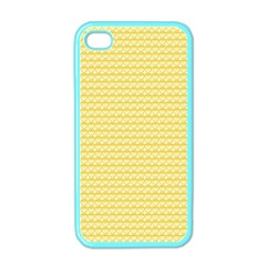 Pattern Yellow Heart Heart Pattern Apple iPhone 4 Case (Color)