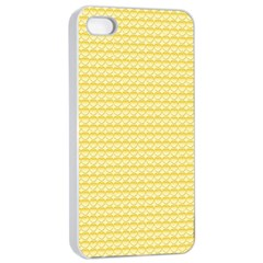 Pattern Yellow Heart Heart Pattern Apple iPhone 4/4s Seamless Case (White)