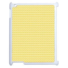 Pattern Yellow Heart Heart Pattern Apple iPad 2 Case (White)