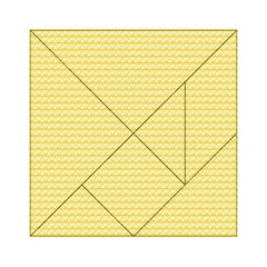 Pattern Yellow Heart Heart Pattern Acrylic Tangram Puzzle (6  X 6 ) by Nexatart