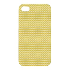 Pattern Yellow Heart Heart Pattern Apple iPhone 4/4S Premium Hardshell Case