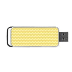 Pattern Yellow Heart Heart Pattern Portable USB Flash (One Side)