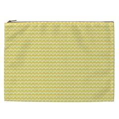 Pattern Yellow Heart Heart Pattern Cosmetic Bag (XXL)