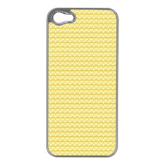 Pattern Yellow Heart Heart Pattern Apple iPhone 5 Case (Silver)