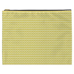 Pattern Yellow Heart Heart Pattern Cosmetic Bag (XXXL)