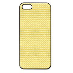 Pattern Yellow Heart Heart Pattern Apple iPhone 5 Seamless Case (Black)
