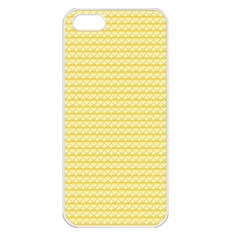 Pattern Yellow Heart Heart Pattern Apple iPhone 5 Seamless Case (White)