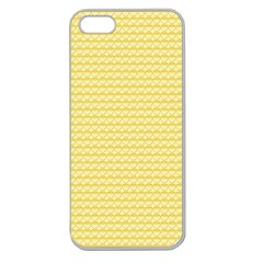 Pattern Yellow Heart Heart Pattern Apple Seamless iPhone 5 Case (Clear)