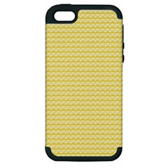 Pattern Yellow Heart Heart Pattern Apple iPhone 5 Hardshell Case (PC+Silicone)