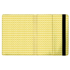 Pattern Yellow Heart Heart Pattern Apple iPad 2 Flip Case