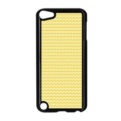 Pattern Yellow Heart Heart Pattern Apple iPod Touch 5 Case (Black)