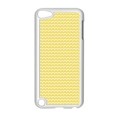 Pattern Yellow Heart Heart Pattern Apple iPod Touch 5 Case (White)