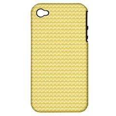 Pattern Yellow Heart Heart Pattern Apple iPhone 4/4S Hardshell Case (PC+Silicone)