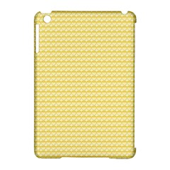Pattern Yellow Heart Heart Pattern Apple Ipad Mini Hardshell Case (compatible With Smart Cover) by Nexatart