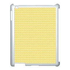Pattern Yellow Heart Heart Pattern Apple iPad 3/4 Case (White)