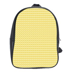 Pattern Yellow Heart Heart Pattern School Bags (XL)