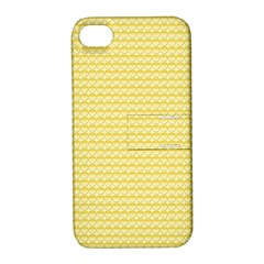 Pattern Yellow Heart Heart Pattern Apple iPhone 4/4S Hardshell Case with Stand