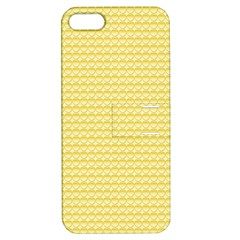 Pattern Yellow Heart Heart Pattern Apple Iphone 5 Hardshell Case With Stand by Nexatart