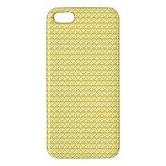 Pattern Yellow Heart Heart Pattern Apple iPhone 5 Premium Hardshell Case