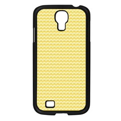 Pattern Yellow Heart Heart Pattern Samsung Galaxy S4 I9500/ I9505 Case (Black)