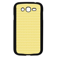 Pattern Yellow Heart Heart Pattern Samsung Galaxy Grand DUOS I9082 Case (Black)
