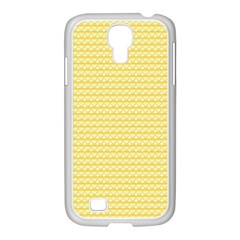Pattern Yellow Heart Heart Pattern Samsung GALAXY S4 I9500/ I9505 Case (White)