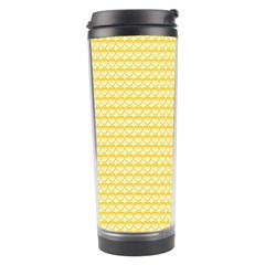 Pattern Yellow Heart Heart Pattern Travel Tumbler