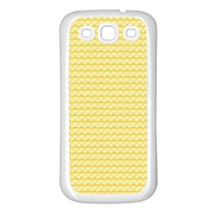 Pattern Yellow Heart Heart Pattern Samsung Galaxy S3 Back Case (White)