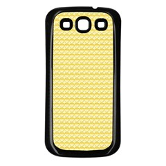 Pattern Yellow Heart Heart Pattern Samsung Galaxy S3 Back Case (Black)