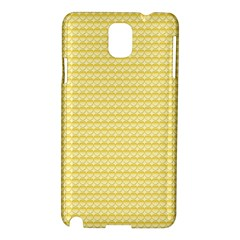 Pattern Yellow Heart Heart Pattern Samsung Galaxy Note 3 N9005 Hardshell Case