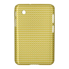 Pattern Yellow Heart Heart Pattern Samsung Galaxy Tab 2 (7 ) P3100 Hardshell Case