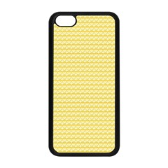 Pattern Yellow Heart Heart Pattern Apple iPhone 5C Seamless Case (Black)
