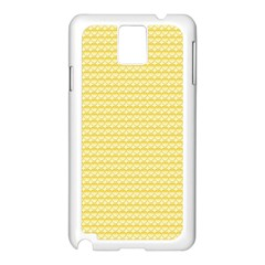 Pattern Yellow Heart Heart Pattern Samsung Galaxy Note 3 N9005 Case (White)