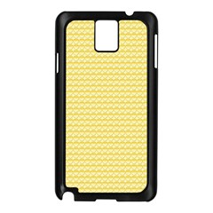 Pattern Yellow Heart Heart Pattern Samsung Galaxy Note 3 N9005 Case (Black)