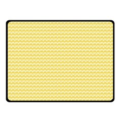 Pattern Yellow Heart Heart Pattern Double Sided Fleece Blanket (Small)