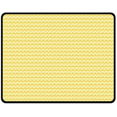 Pattern Yellow Heart Heart Pattern Double Sided Fleece Blanket (Medium)