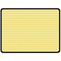 Pattern Yellow Heart Heart Pattern Double Sided Fleece Blanket (Large)