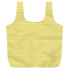 Pattern Yellow Heart Heart Pattern Full Print Recycle Bags (L)