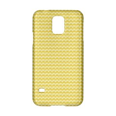 Pattern Yellow Heart Heart Pattern Samsung Galaxy S5 Hardshell Case