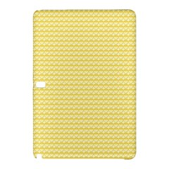 Pattern Yellow Heart Heart Pattern Samsung Galaxy Tab Pro 10 1 Hardshell Case by Nexatart