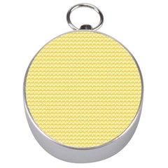 Pattern Yellow Heart Heart Pattern Silver Compasses
