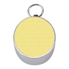 Pattern Yellow Heart Heart Pattern Mini Silver Compasses