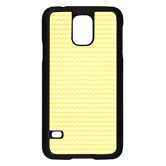 Pattern Yellow Heart Heart Pattern Samsung Galaxy S5 Case (Black)