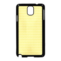 Pattern Yellow Heart Heart Pattern Samsung Galaxy Note 3 Neo Hardshell Case (Black)