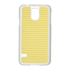 Pattern Yellow Heart Heart Pattern Samsung Galaxy S5 Case (White)