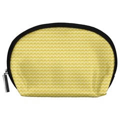 Pattern Yellow Heart Heart Pattern Accessory Pouches (Large)