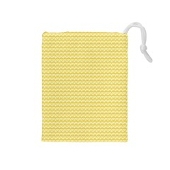 Pattern Yellow Heart Heart Pattern Drawstring Pouches (Medium)