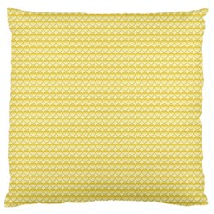 Pattern Yellow Heart Heart Pattern Large Flano Cushion Case (One Side)