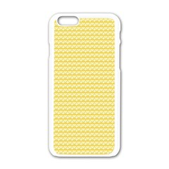 Pattern Yellow Heart Heart Pattern Apple iPhone 6/6S White Enamel Case